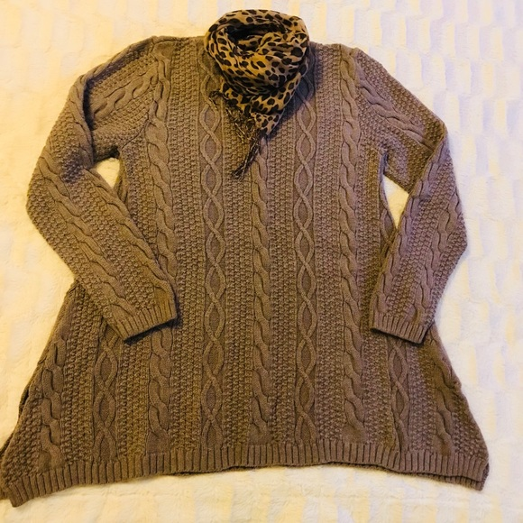 c25110eab9e08 JEANNE PIERRE Sweaters - Jeanne Pierre Cotton Crew Neck Sweater Tunic